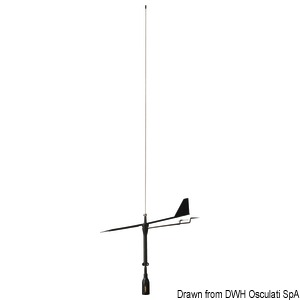 SUPERGAIN VHF antenna by Glomex Black Swan title=