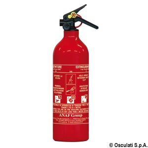 MED-type approved powder extinguisher title=