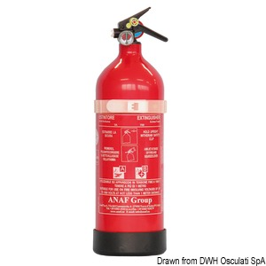 ANF fire extinguisher with AFFF MED type-tested foam title=