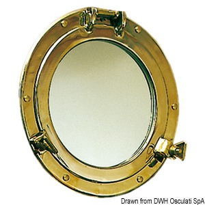 OLD MARINA porthole-shaped mirror