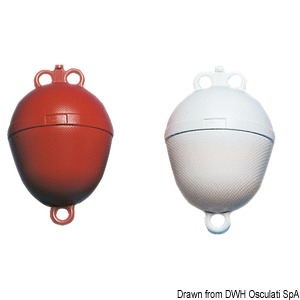 Blown polyethylene buoys