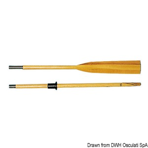 Evaporated beech jointed oars