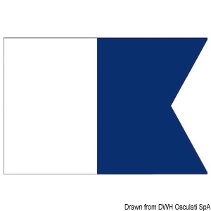 Signal flags made of woolen fabric