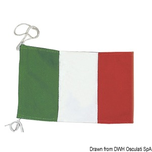 Italian courtesy flag made of polyester