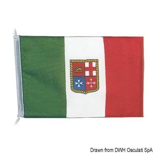 Włoska flaga z lekkiego poliestru