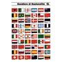 Tableau adhesif pavillons nationalités