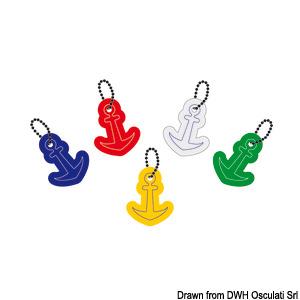 Soft foam anchor key rings title=