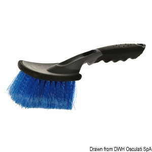YACHTICON soft fibre brush with handle title=