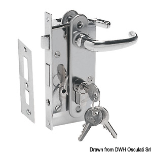 Flush lock with safety cylinder title=