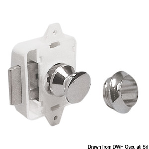 Spring lock for hatches and cabinet doors title=