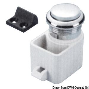 SELF-LATCHING pushbutton spring lock