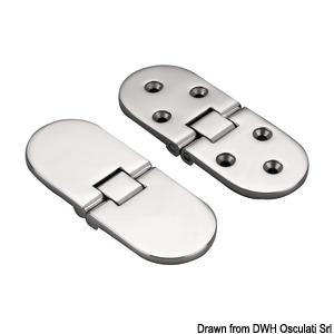 Šarniri precizni proizvedeni postupkom mikrofuzije, okretanje 180°