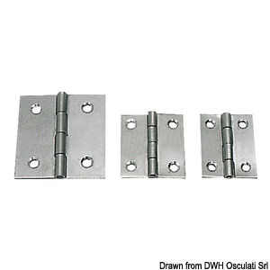 Hinges 0.8 mm thickness
