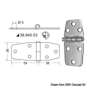 Hinges 2,5 mm  thickness