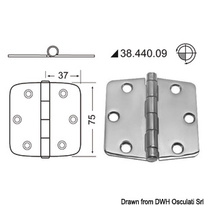 Hinges 2 mm thickness title=