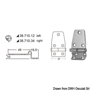 Overhang hinges 2 mm