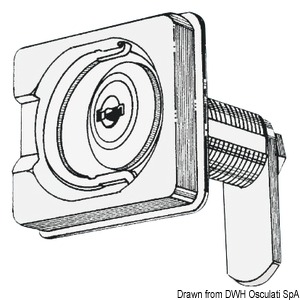 Swivelling lock for portholes and peaks title=
