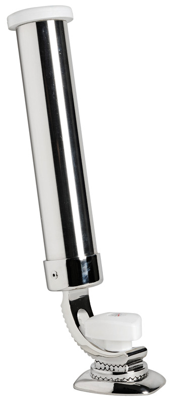 Details about  /Adjustable 4Tube Fishing Rod Holder On Track Mount Stainless Steel 316 New Stock