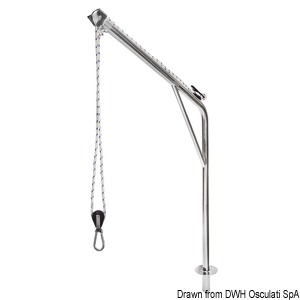 Stainless steel swivelling davit title=