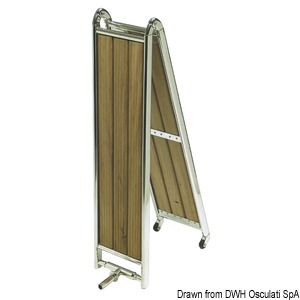 Mirror polished stainless steel foldable gangways title=