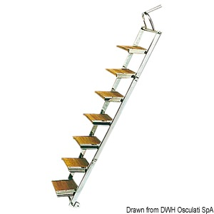 Stainless steel gangway/ladder title=
