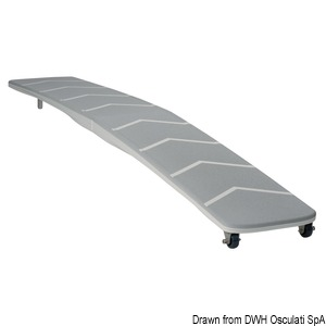 Polybridge folding gangplank made of composite material title=