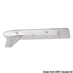 Fin anode on rectangular plate (15 HP) title=