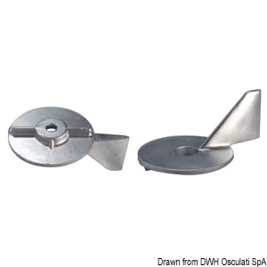 Anode leg for 50/75 HP outboard engines title=