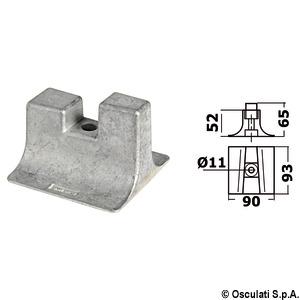 Алюминиевый анод для дейдвуда Yamaha 300/450 л.с