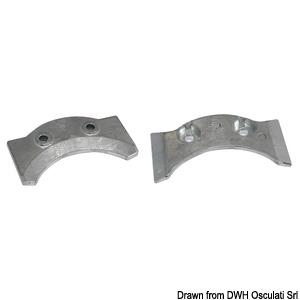 Onboard/outboard plate (zinc)