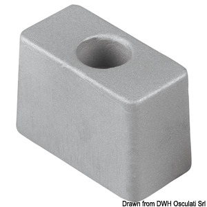 Anode for outboard engines