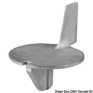 Anode leg for 50 HP 4-stroke engines