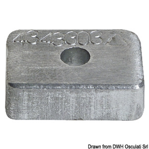 Anode for Mercury 4/5/6 HP
