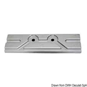 Plate anode for outboards up to 150 HP, 4 strokes title=