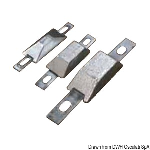 Rectangular anodes with insert