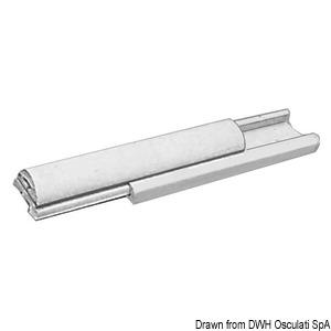PVC and anodized aluminium rubbing strakes