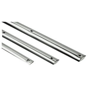 Profili bottazzo in acciaio inox e basi PVC