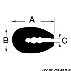 Profile designed for trimming reinforced fiberglass, wood or metal title=