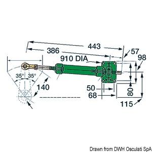 VETUS MT52 steering system single