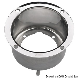 Stainless steel flange (HTPF2) for VETUS steering systems title=