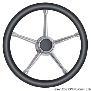 Steering wheels with stainless steel spokes title=