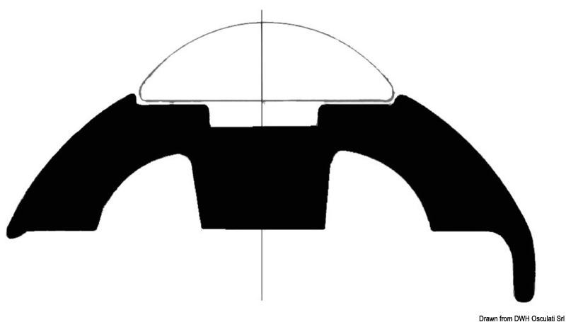25D//I PVC Fender Rubbing Strake White