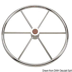 Mirror polished stainless steel steering wheels title=