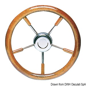 Steering wheels with mahogany polyurethane lacquered crown