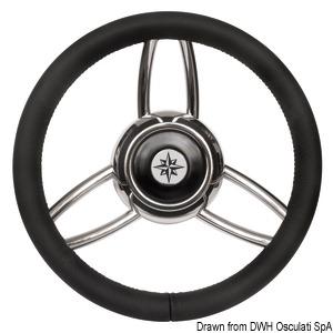 Blitz steering wheel w/soft polyurethan ring black