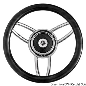 Blitz steering wheel w/carbon outer ring