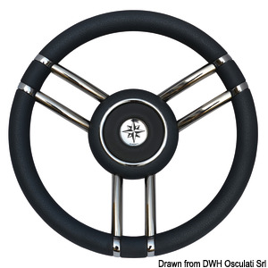 Apollo steering wheel SS+polyurethane Ø350mm black