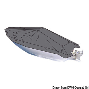 Boat cover - suitable for open boats with central control panel title=