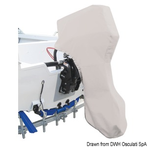 OCEANSOUTH Top Quality cover for 2/4-stroke outboard engine - Complete engine title=