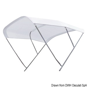 TESSILMARE Shade Master SS detachable bimini title=